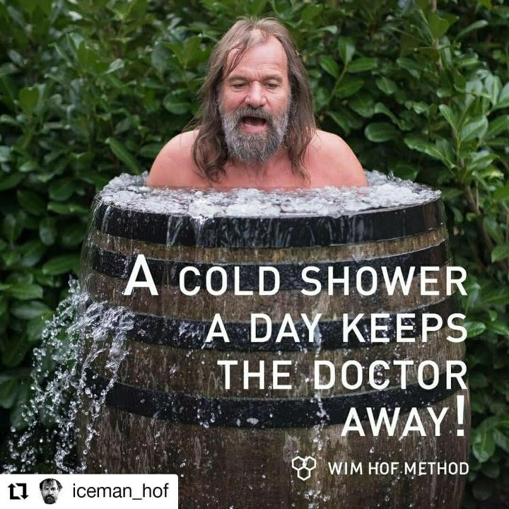 Picture of Wim Hof in ice bath