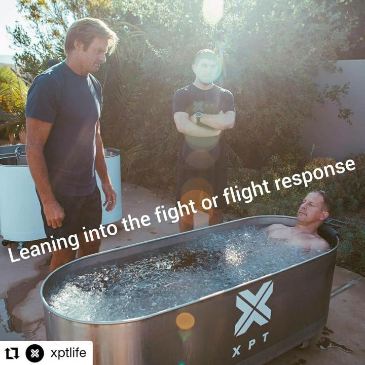 image of XPT and Laird Hamilton training ice therapy